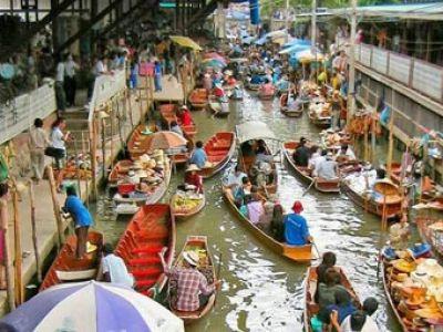 بازار روی آب در تایلند